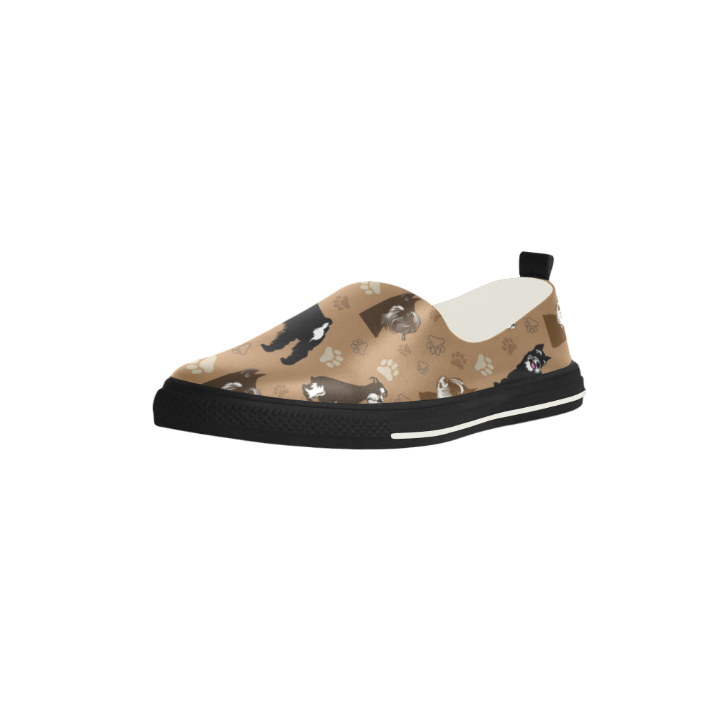 Miniature Schnauzer Pattern Apus Slip-on Microfiber Women's Shoes - TeeAmazing