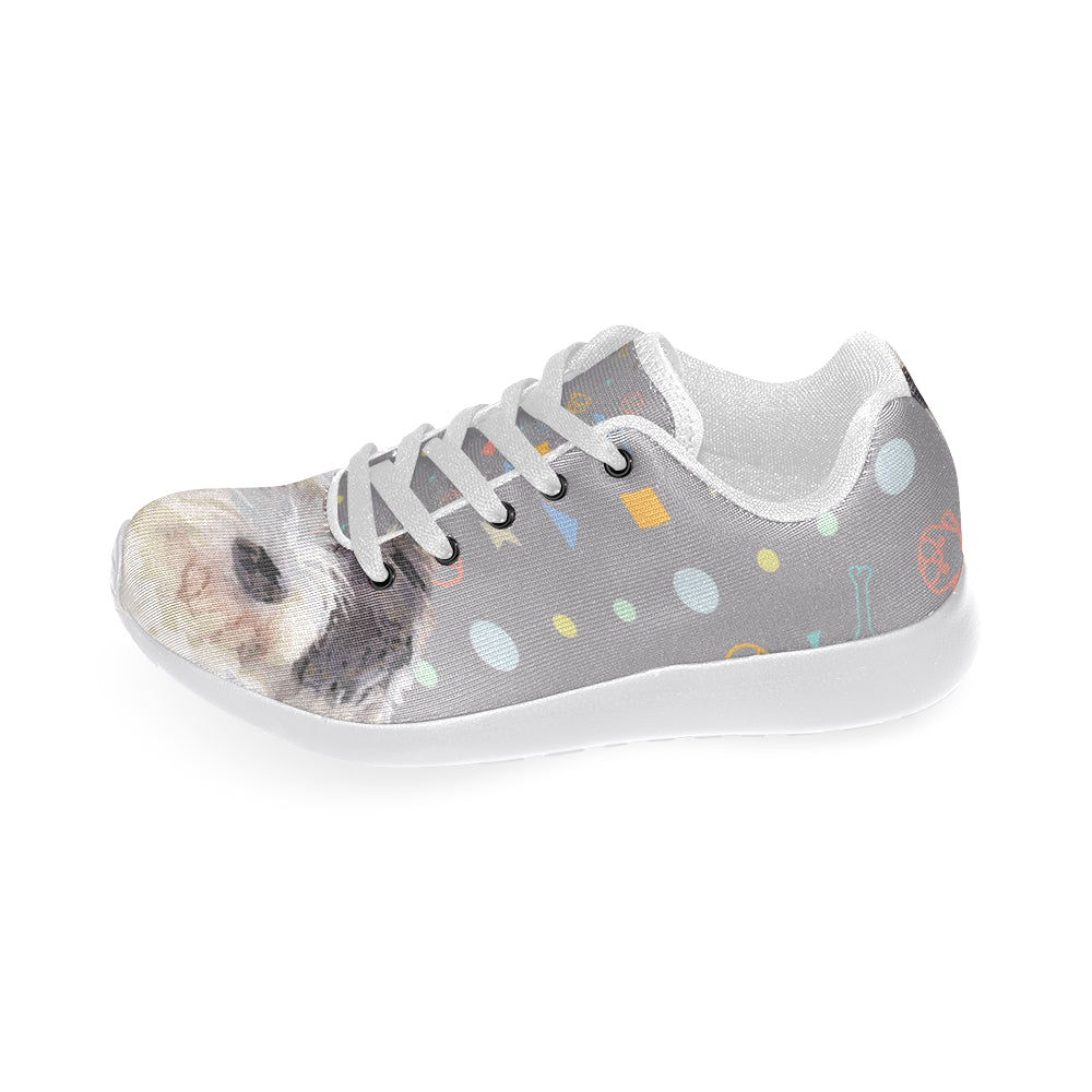 Petit Basset Griffon Vendéen White Sneakers Size 13-15 for Men - TeeAmazing