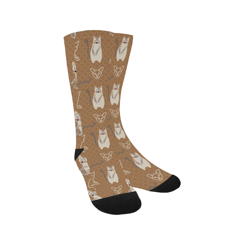 Javanese Cat Trouser Socks - TeeAmazing