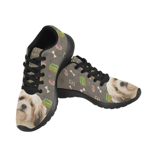 Cavachon Dog Black Sneakers for Women - TeeAmazing