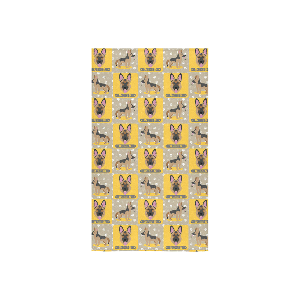 "German Shepherd Pattern Custom Towel 16""x28"" - TeeAmazing"