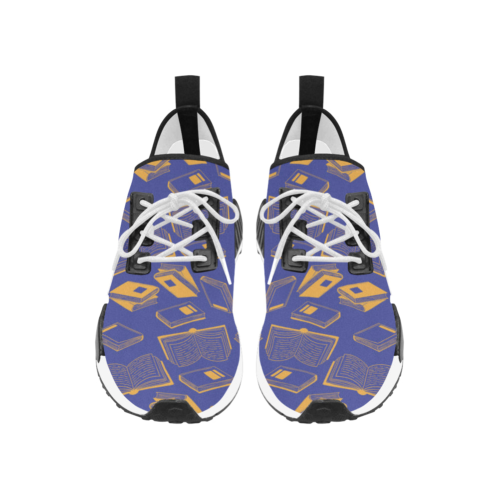 Book Pattern Women's Draco Running Shoes - TeeAmazing