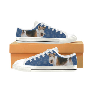 Wire Hair Fox Terrier Dog White Men's Classic Canvas Shoes - TeeAmazing