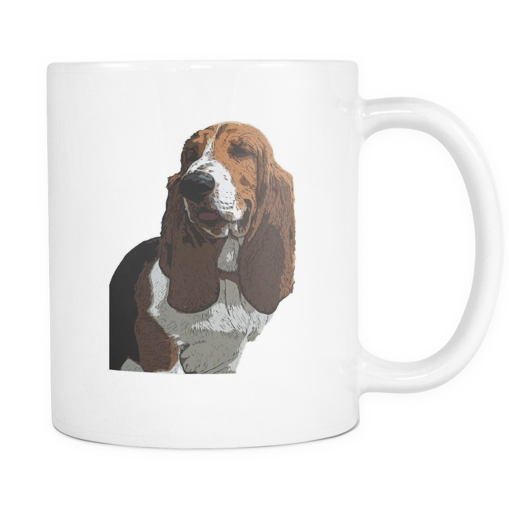 Basset Hound Dog Mugs & Coffee Cups - Basset Hound Coffee Mugs - TeeAmazing