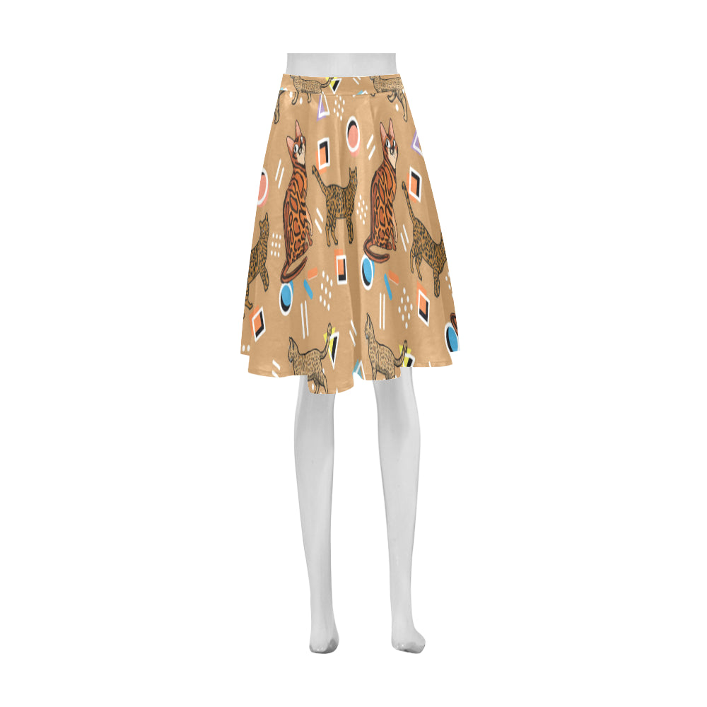 Bengal Cat Athena Women's Short Skirt - TeeAmazing
