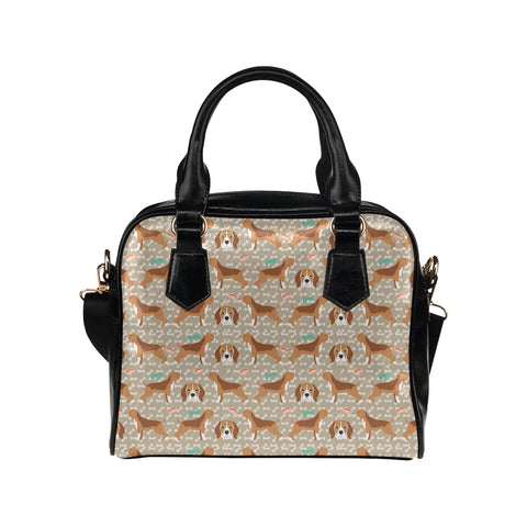 Beagle Pattern Shoulder Handbag (Model 1634) - TeeAmazing