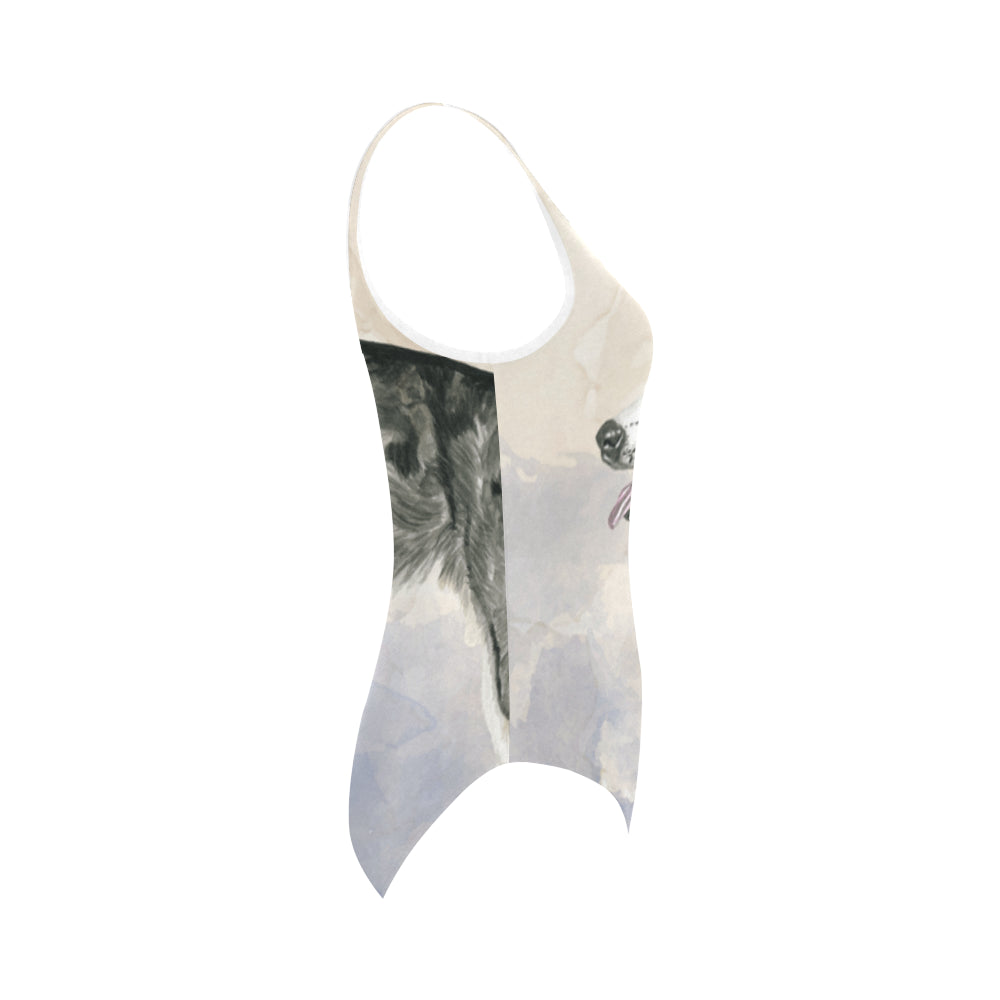 Alaskan Malamute Water Colour Vest One Piece Swimsuit - TeeAmazing
