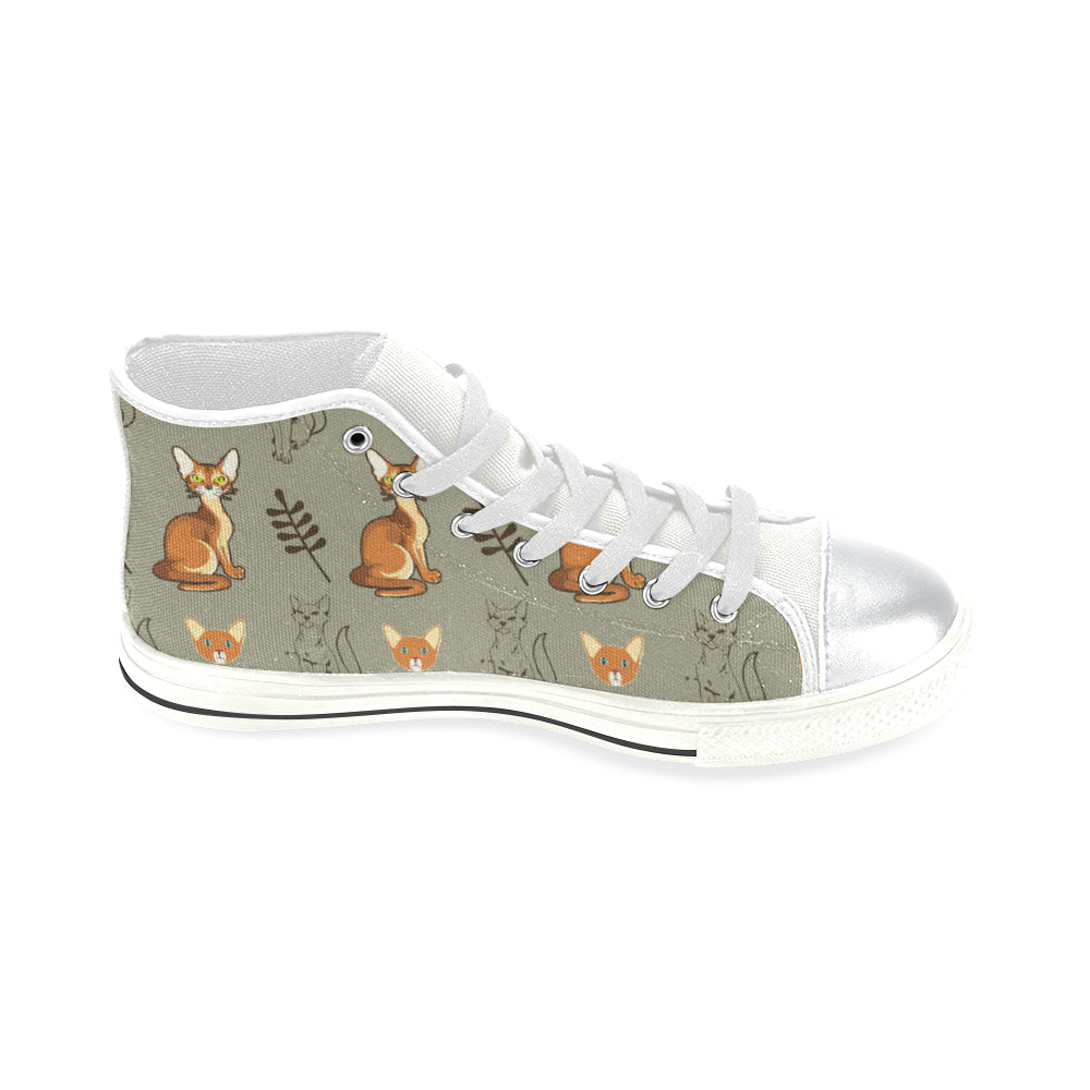 Abyssinian White High Top Canvas Women's Shoes/Large Size - TeeAmazing