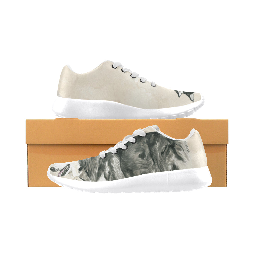 Alaskan Malamute Water Colour White Sneakers Size 13-15 for Men - TeeAmazing