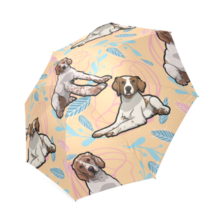 Brittany Spaniel Flower Foldable Umbrella - TeeAmazing
