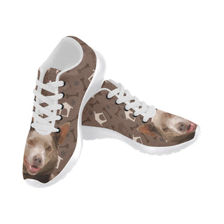 Australian Kelpie Dog White Sneakers for Women - TeeAmazing