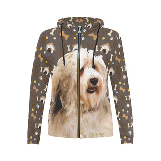 Havanese Dog All Over Print Full Zip Hoodie for Women - TeeAmazing