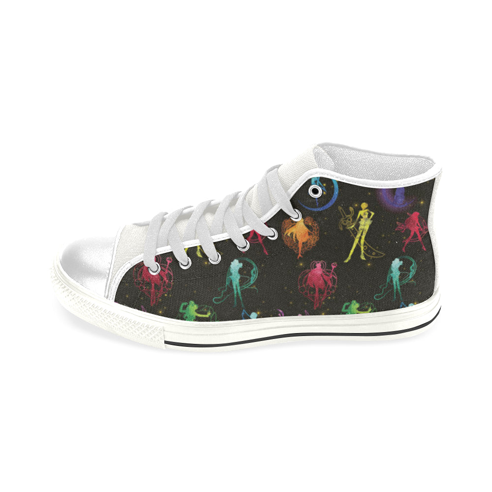 All Sailor Soldiers White Men's Classic High Top Canvas Shoes - TeeAmazing