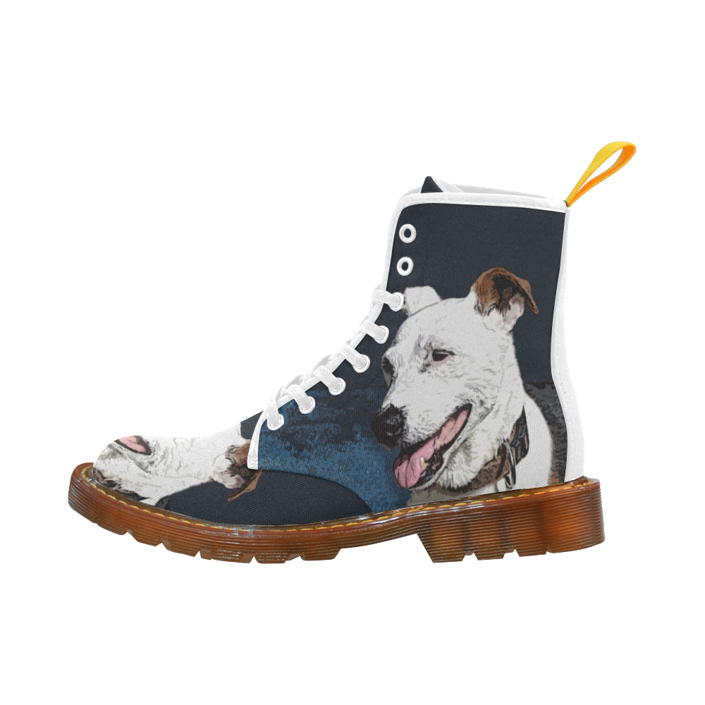 a7f9078b9da Jack Russell Terrier Painting White Boots For Men - TeeAmazing