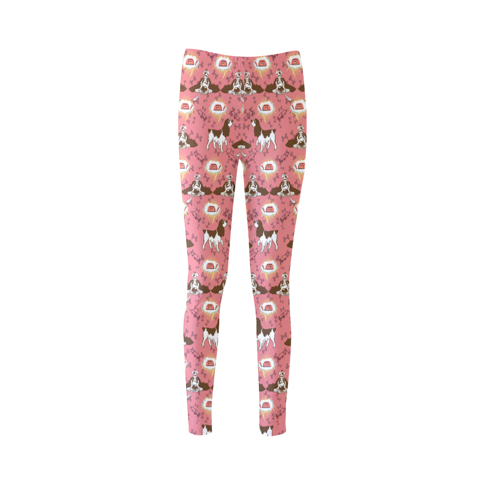 English Cocker Spaniel Pattern Cassandra Women's Leggings - TeeAmazing