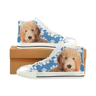 Goldendoodle White Women's Classic High Top Canvas Shoes - TeeAmazing