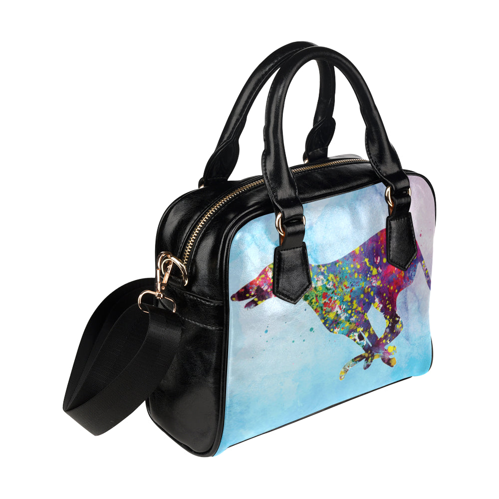 Greyhound Running No.1 Shoulder Handbag - TeeAmazing