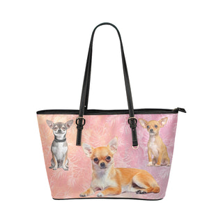 Chihuahua Lover Leather Tote Bag/Small - TeeAmazing