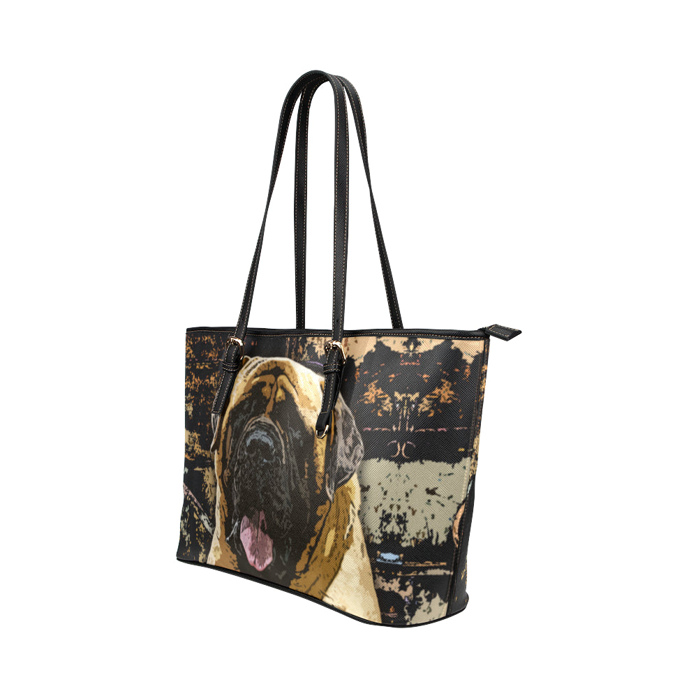 English Mastiff Leather Tote Bags - English Mastiff Bags - TeeAmazing