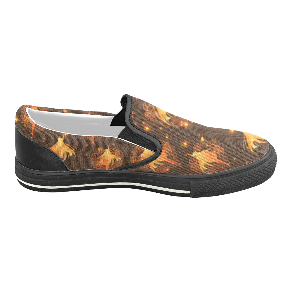 Sailor Venus Black Women's Slip-on Canvas Shoes/Large Size (Model 019) - TeeAmazing