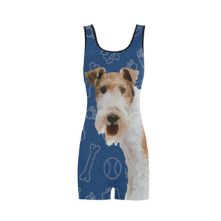 Wire Hair Fox Terrier Dog Classic One Piece Swimwear - TeeAmazing