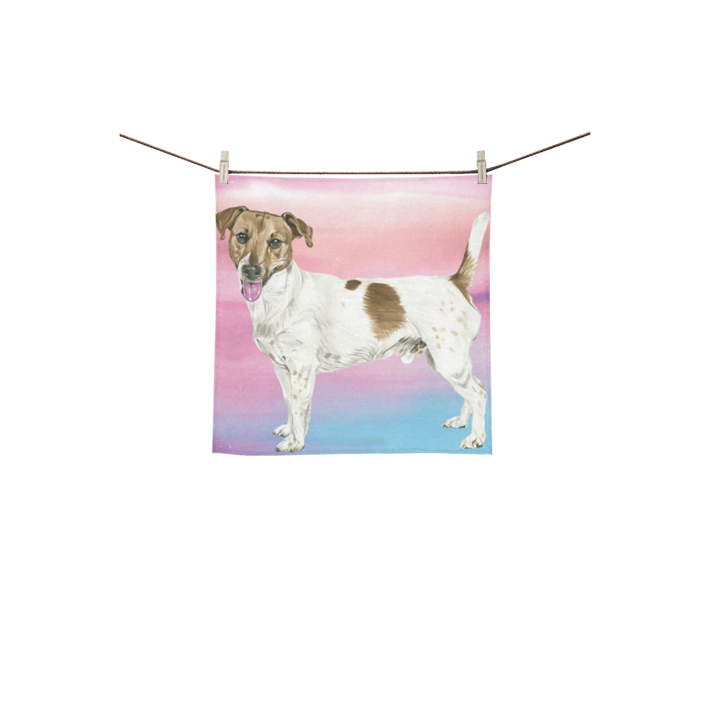 Jack Russell Terrier Water Colour No.1 Square Towel 13x13 - TeeAmazing