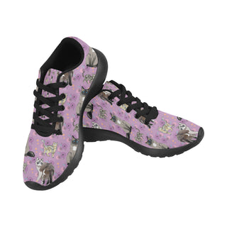 Balinese Cat Black Sneakers for Women - TeeAmazing