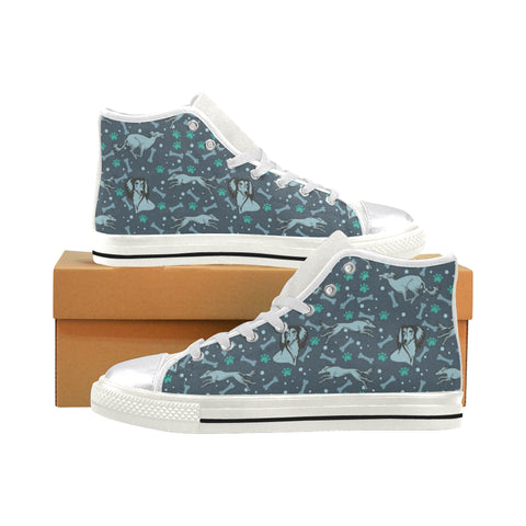 Saluki White Women's Classic High Top Canvas Shoes - TeeAmazing