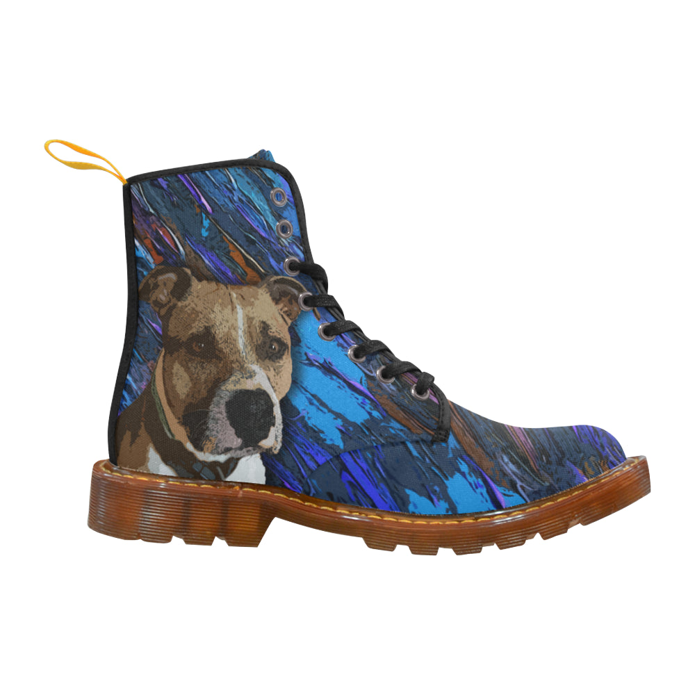 American Staffordshire Terrier White Boots For Women - TeeAmazing