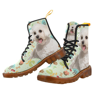 Maltipoo Black Martin Boots For Women - TeeAmazing