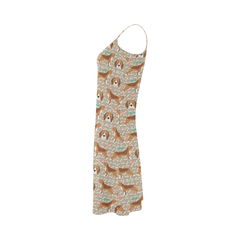 Beagle Pattern Alcestis Slip Dress - TeeAmazing