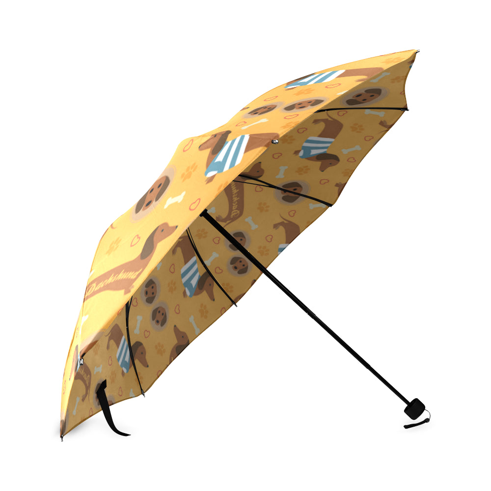 Dachshund Pattern Foldable Umbrella - TeeAmazing
