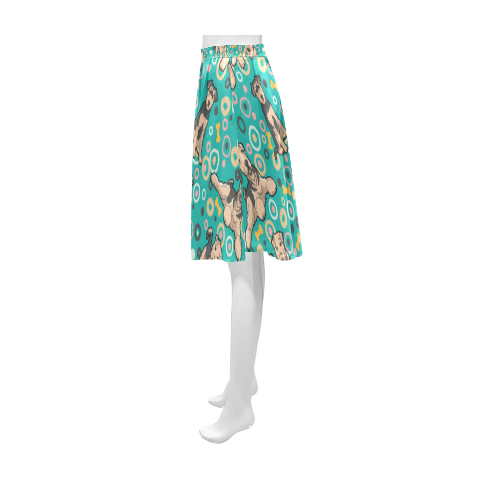 Airedale Terrier Pattern Athena Women's Short Skirt - TeeAmazing