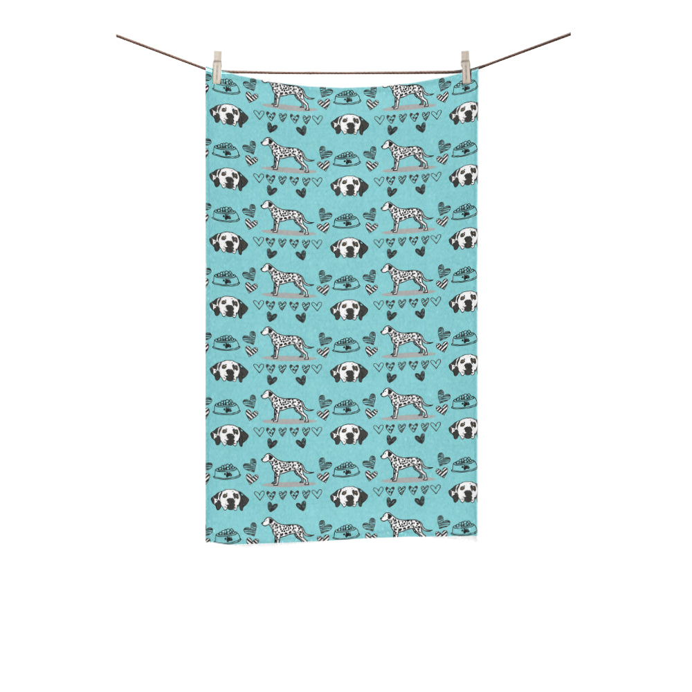 "Dalmatian Pattern Custom Towel 16""x28"" - TeeAmazing"