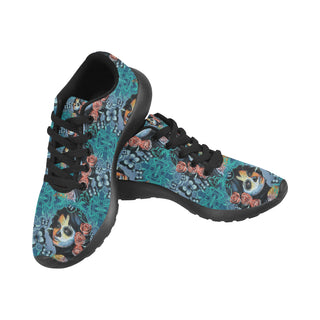 Sugar Skull Tattoo Black Sneakers Size 13-15 for Men - TeeAmazing