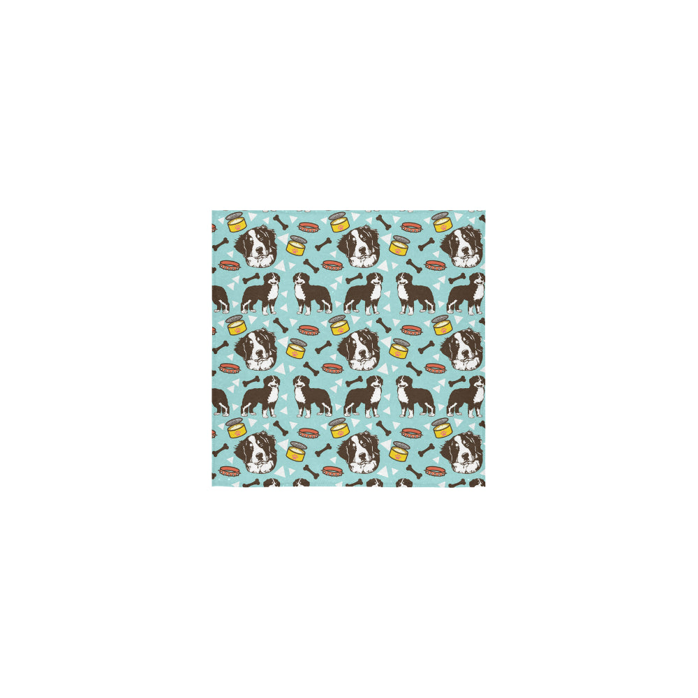 Bernese Mountain Pattern Square Towel 13x13 - TeeAmazing