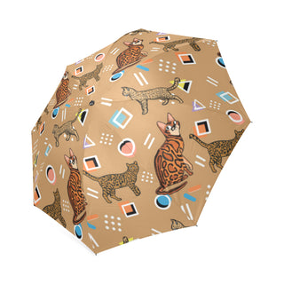 Bengal Cat Foldable Umbrella - TeeAmazing