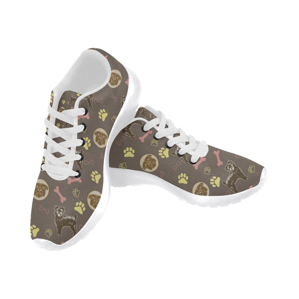 Affenpinschers Pattern White Sneakers Size 13-15 for Men - TeeAmazing