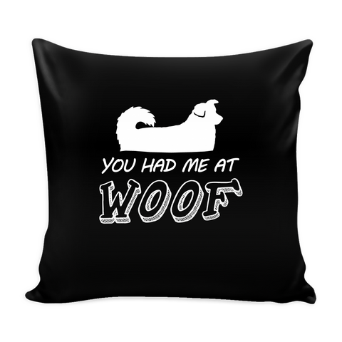 You Had Me At Woof Pillow Cover - Australian Shepherd Dog Accessories - TeeAmazing - 1