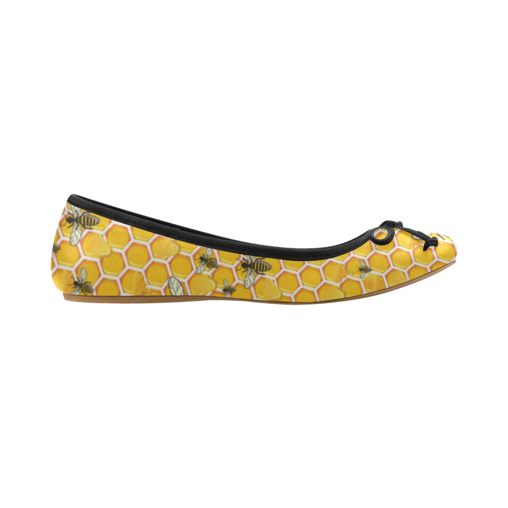 Bee Juno Ballet Pumps - TeeAmazing