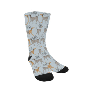 Italian Greyhound Pattern Trouser Socks - TeeAmazing