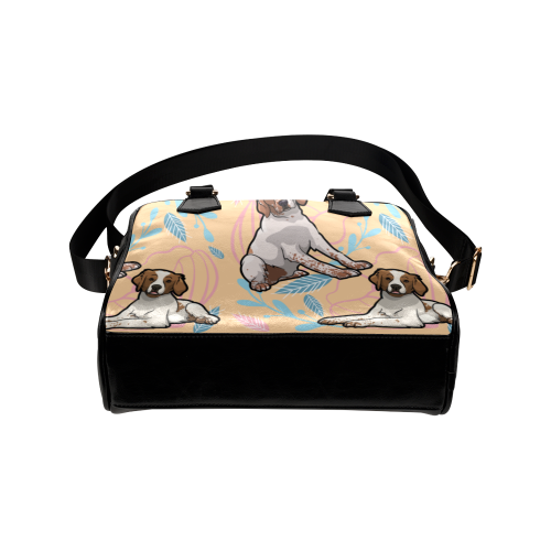 Brittany Spaniel Flower Shoulder Handbag - TeeAmazing