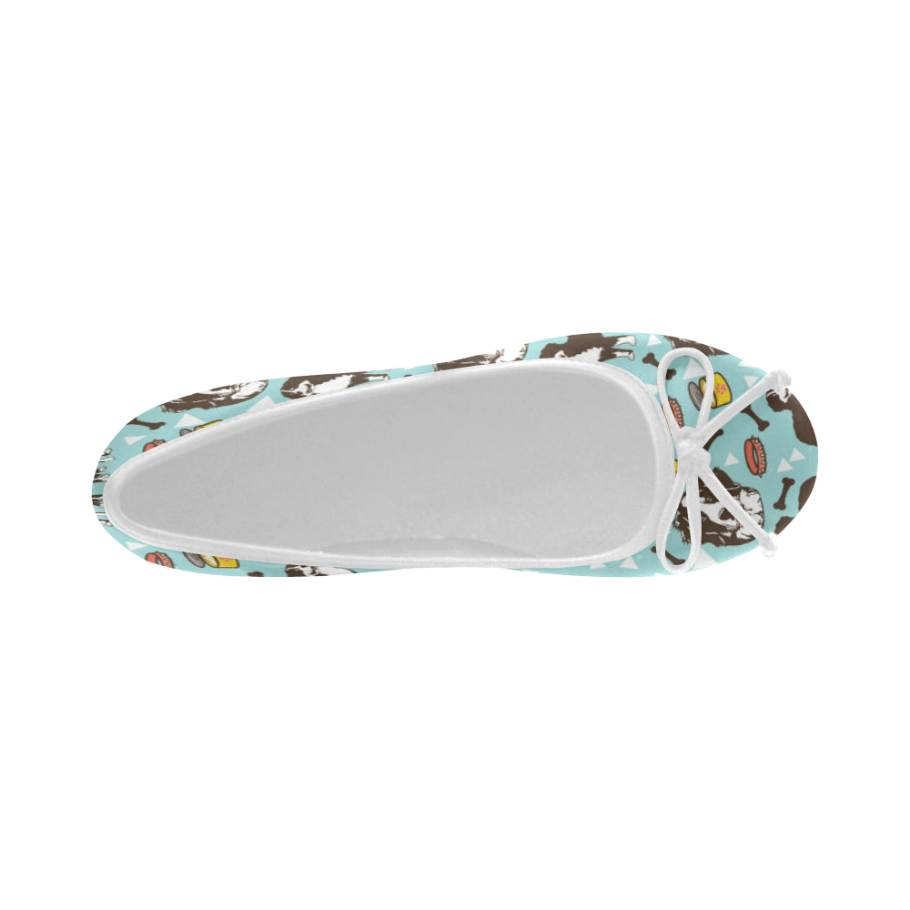 Bernese Mountain Pattern Juno Ballet Pumps - TeeAmazing