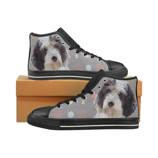 Petit Basset Griffon Vendéen Black Men's Classic High Top Canvas Shoes - TeeAmazing