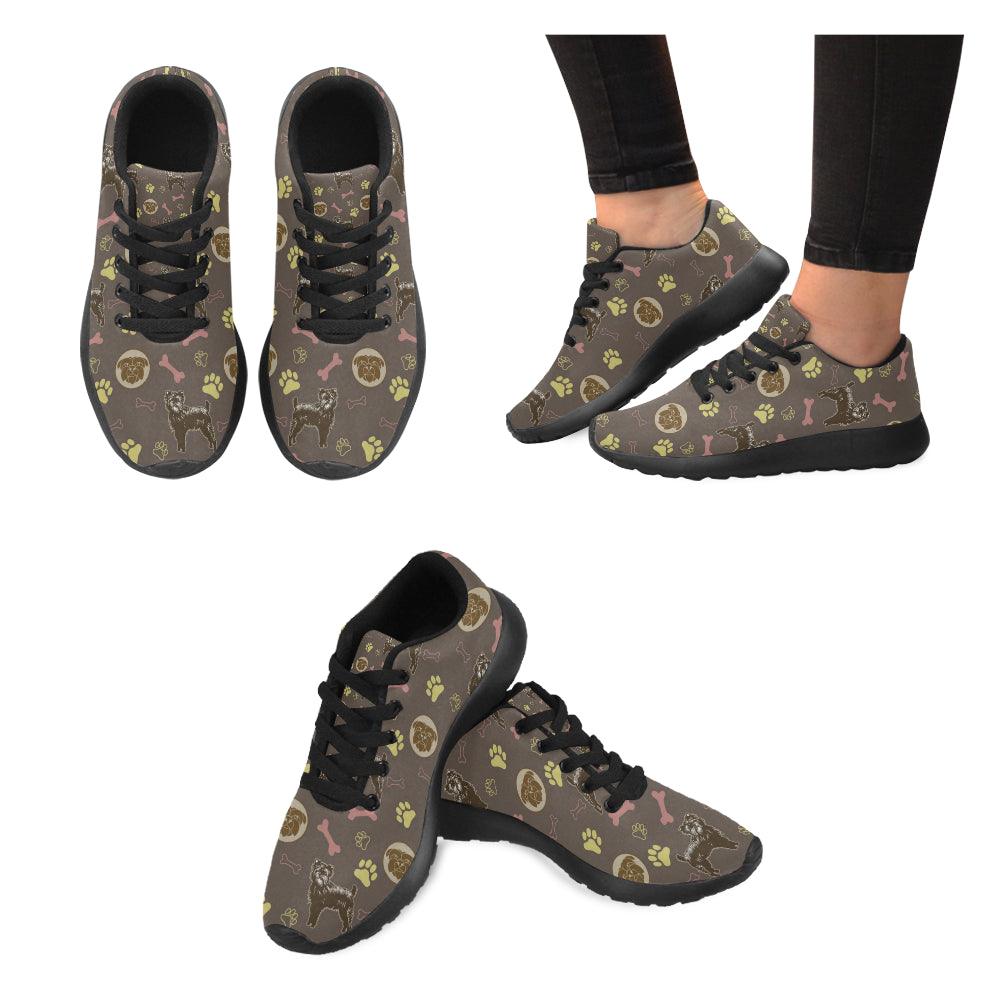 Affenpinschers Pattern Black Sneakers for Women - TeeAmazing