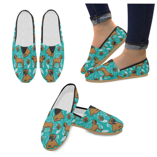 Bullmastiff Flower Women's Casual Shoes - TeeAmazing