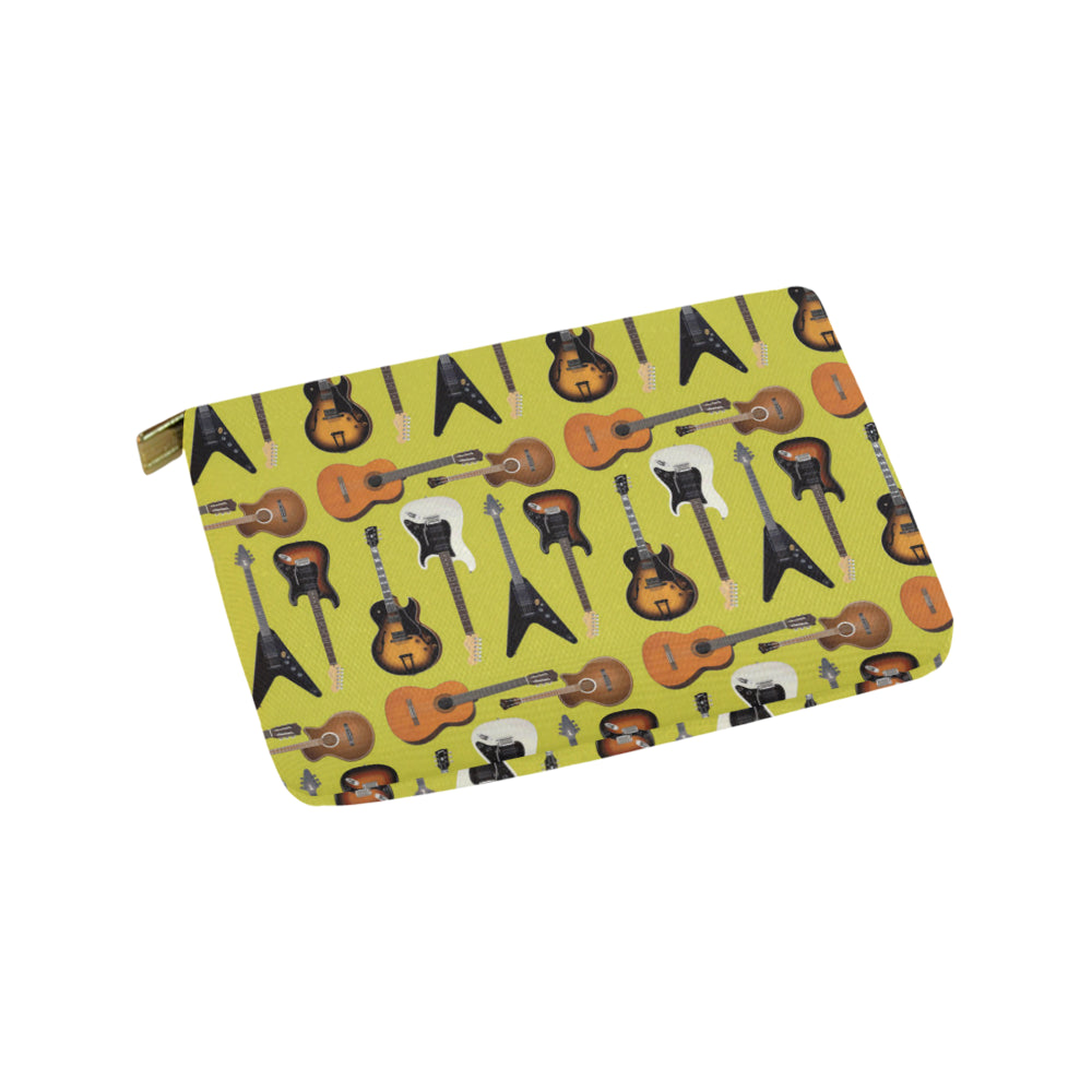 Guitar Pattern Carry-All Pouch 9.5x6 - TeeAmazing