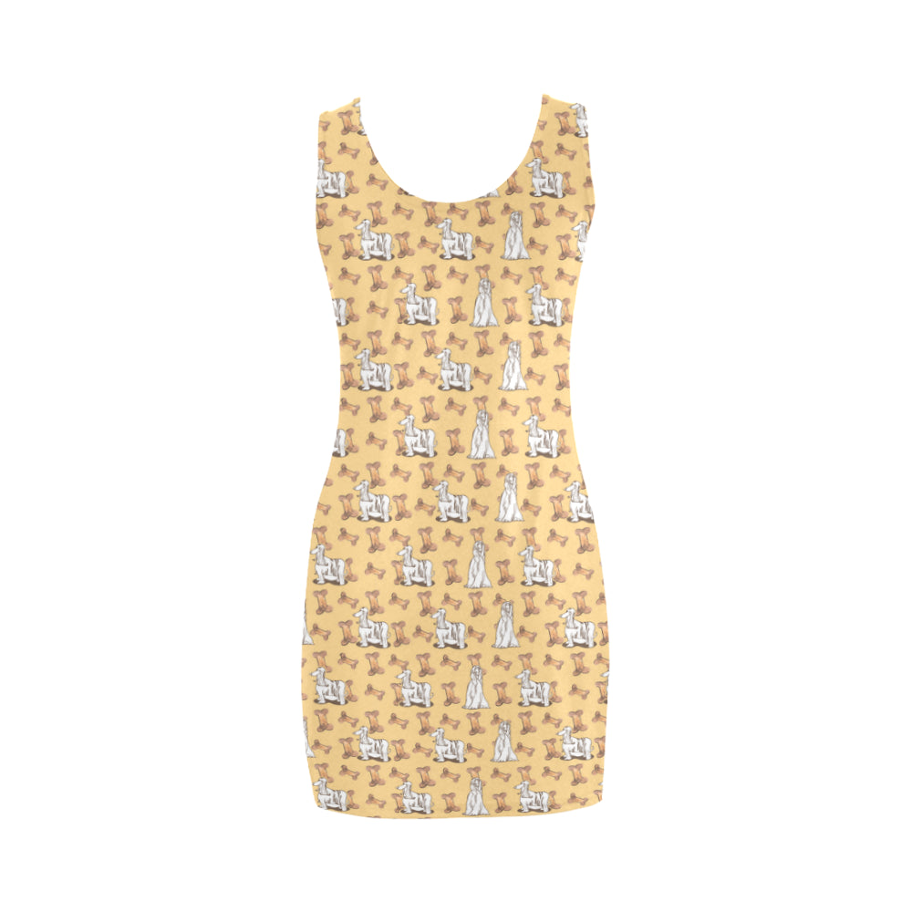 Afghan Hound Pattern Medea Vest Dress - TeeAmazing