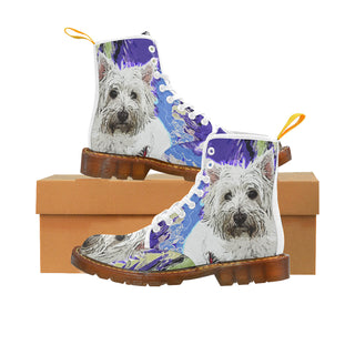 West Highland White Terrier White Boots For Women - TeeAmazing