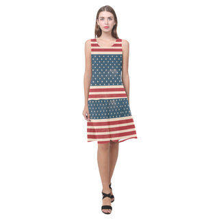 4th July V2 Sleeveless Splicing Shift Dress - TeeAmazing